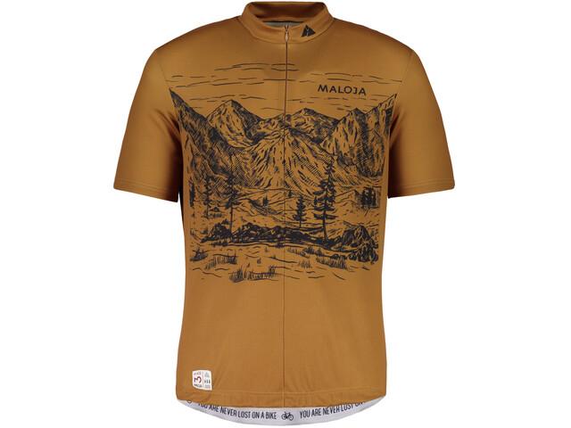 Maloja SerlasM. Shortsleeve Bike Jersey Men walnut